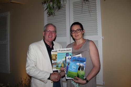 Dr Katarzyna Michniewska z Gailenem Vickiem założycielem Reverse Logistics Association w USA