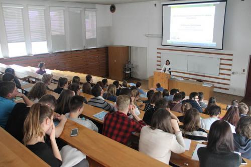 Wykład dr Katarzyny Michniewskiej na Uniwersytecie Przyrodniczym w Poznaniu